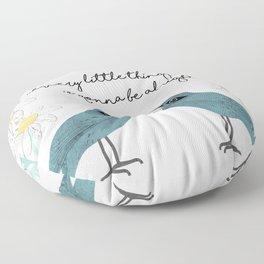 Three Little Birds, Part 2 Floor Pillow