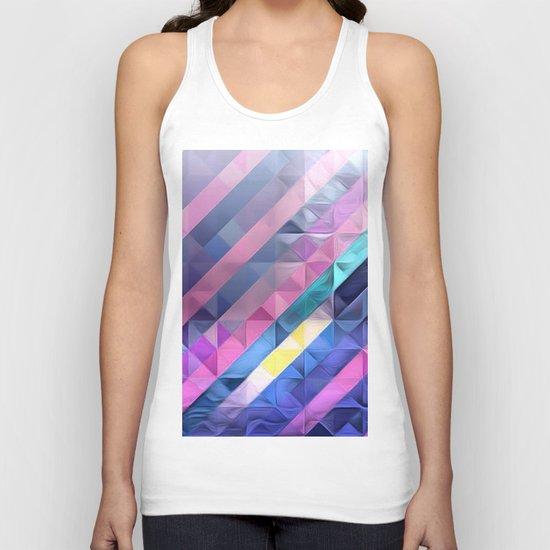 Geometric Abstract Pastel Rainbow Unisex Tank Top