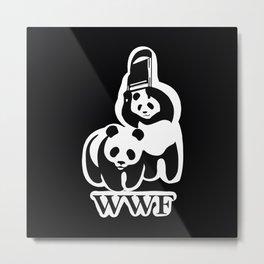 wwf parody panda Metal Print