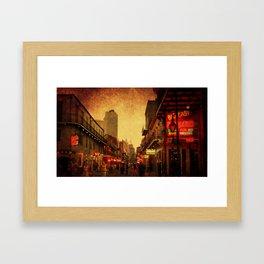Bourbon Street Grunge Framed Art Print