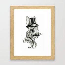 Gentleman Rabbit Framed Art Print