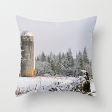 Remnants of a Simpler Time - The Silo Throw Pillow