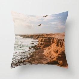 Chilean Coast Throw Pillow