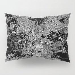 Riyadh Black Map Pillow Sham
