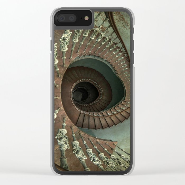 Ornamented spiral staircase Clear iPhone Case