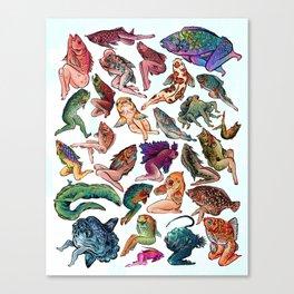 Reverse Mermaids Canvas Print