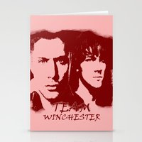 winchester Stationery Cards featuring Team Winchester by Panda Cool