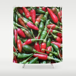 Small & Spicy Shower Curtain