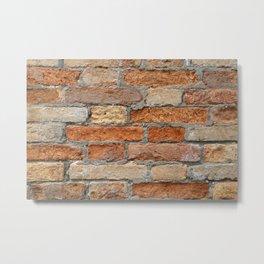 Venetian Bricks No 1 Metal Print