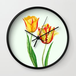 two tulips Wall Clock