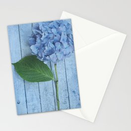 Powder Blue Hydrangea Stationery Cards