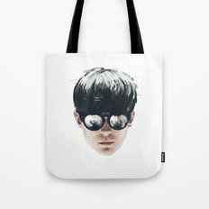 Sea Boy Portrait Tote Bag