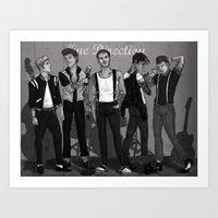 rockabilly Art Prints featuring Rockabilly Direction by maestolenpencil