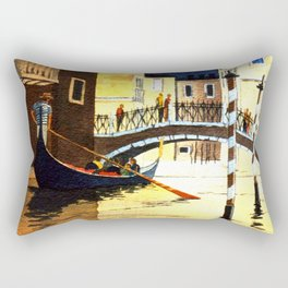 Evening In Venice Italy Rectangular Pillow