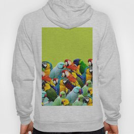 home decor pattern parrots Hoody