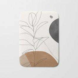 Abstract Art /Minimal Plant Bath Mat