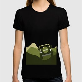 Jeep 'Driving' Green Mountain T-shirt