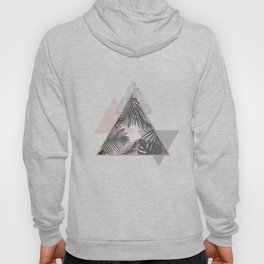 Tropical Marble Blush Pink Gray Copper Hoody