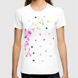 Orchid dots T-shirt