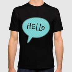 Hello Speech Bubble  Mens Fitted Tee Black MEDIUM