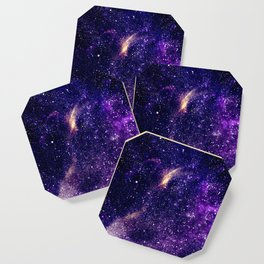 Ultra violet purple abstract galaxy Coaster