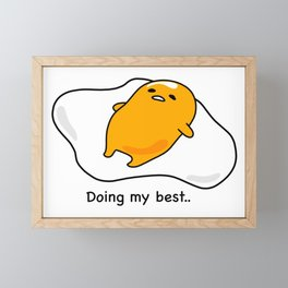Gudetama Framed Mini Art Print