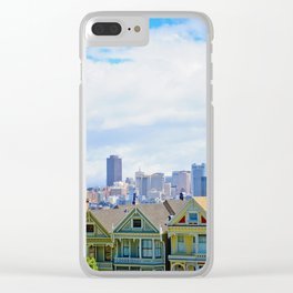 Painted Ladies of Alamo Square Clear iPhone Case