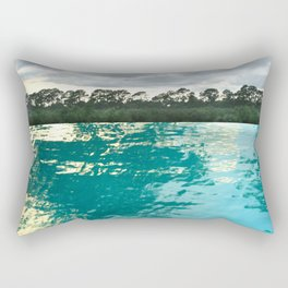 seascape 002: lacy trees and palm isles pool Rectangular Pillow