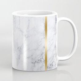 White Marble Gold Frame Coffee Mug
