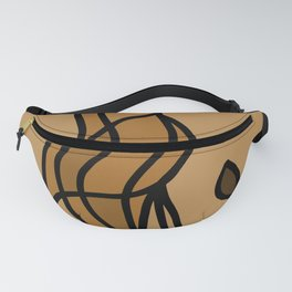 Bird on a Twig in Brown Colors Fanny Pack