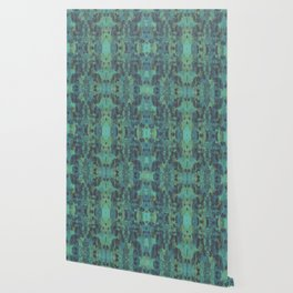 Sycamore Kaleidoscope - Graphite blue green Wallpaper