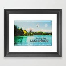 Greetings From Lake Endor Framed Art Print