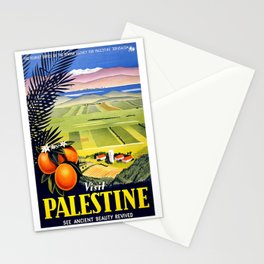 Palestine, vintage travel poster Stationery Cards