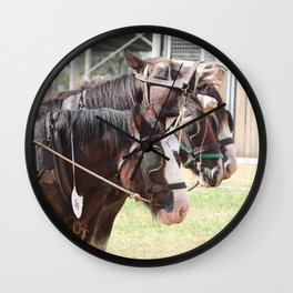 Clydesdales - Let's Go Wall Clock