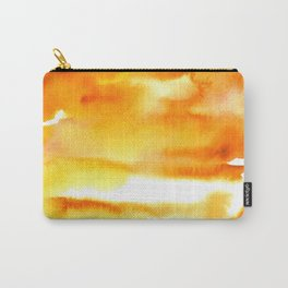 February - Orange & Yellow Carry-All Pouch