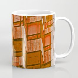 Architectural Abstract in Red Coffee Mug