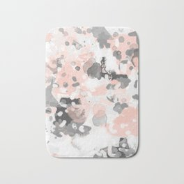 grey and millennial pink abstract painting trendy canvas art decor minimalist Bath Mat