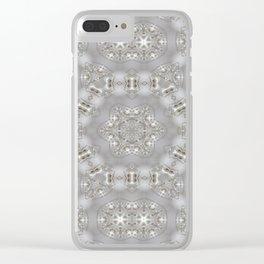 Babies Breath Kaleidoscope Clear iPhone Case