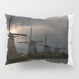 Dutch Windmills in Kinderdjik Pillow Sham