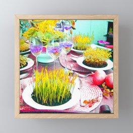 Piatto  fiorito Framed Mini Art Print