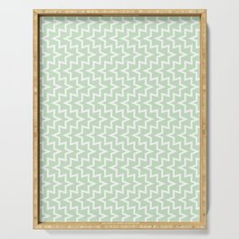 Sea Urchin - Light Green & White #609 Serving Tray