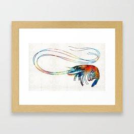 Colorful Shrimp Art by Sharon Cummings Framed Art Print