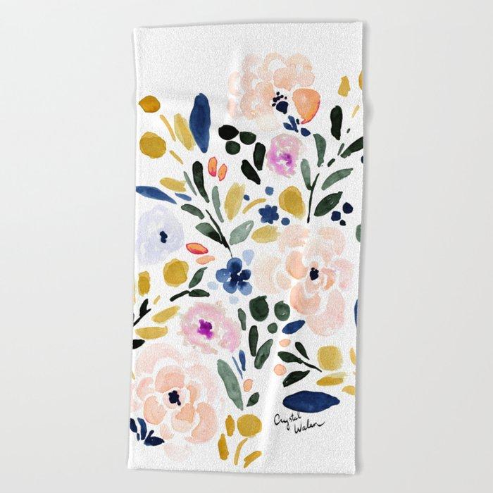 Sierra Floral Beach Towel