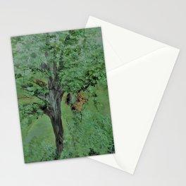 Palette Knife Tree on Wood Stationery Cards