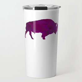 Raging Buffaloes Geometric Purple I Love Buffalo Travel Mug