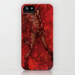 'My Bloody Scarecrow' by Kevin C. Steele iPhone Case