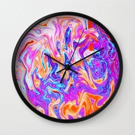 Marbled I Wall Clock