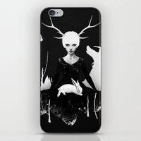 bunny iPhone & iPod Skins featuring Space Within by Ruben Ireland