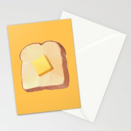 Toast with Butter polygon art Stationery Cards