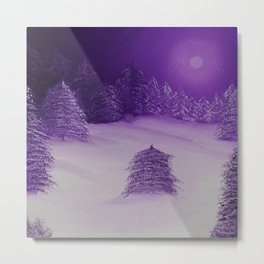 Purple Forest / Oil Painting Metal Print